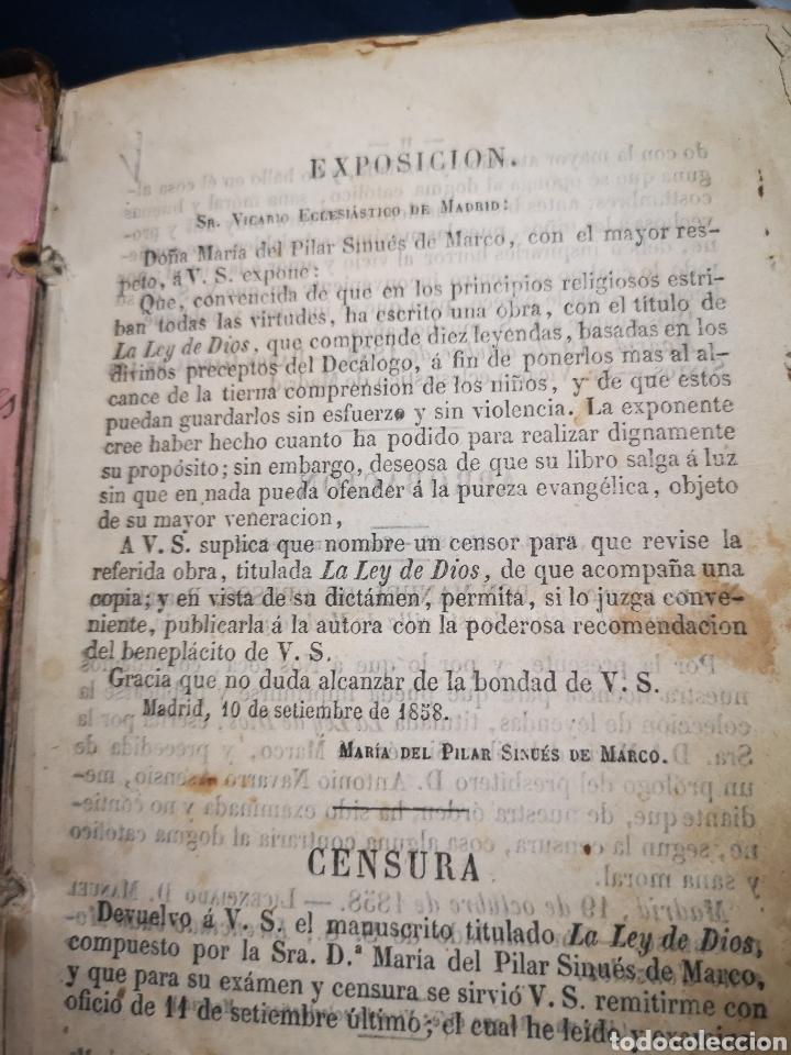 Libros antiguos: LA LEY DE DIOS, COLECCION DE LEYENDAS BASADAS EN PRECEPTOS DEL DECÁLOGO - MARÍA SINUÉS AÑO 1858 - Foto 4 - 183201232