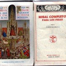 Libros antiguos: MISAL COMPLETO V. MOLINA S.J. AÑOS 40. Lote 183274765