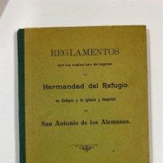 Libros antiguos: REGLAMENTO DE LA HERMANDAD DEL REFUGIO Y PIEDAD. MADRID, 1912. PAGS: 23. Lote 183373545