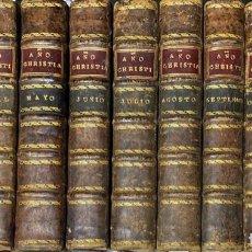 Libros antiguos: AÑO CHRISTIANO O EXERCICIOS DEVOTOS. JUAN CHROISET. 1ª EDICION. 11 TOMOS. FALTA MARZO. MADRID, 1891.. Lote 199239928