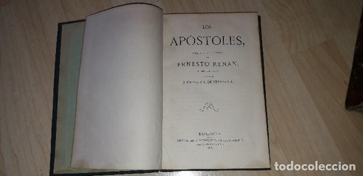 LOS APÓSTOLES. ERNESTO RENAN. 1868 (Libros Antiguos, Raros y Curiosos - Religión)