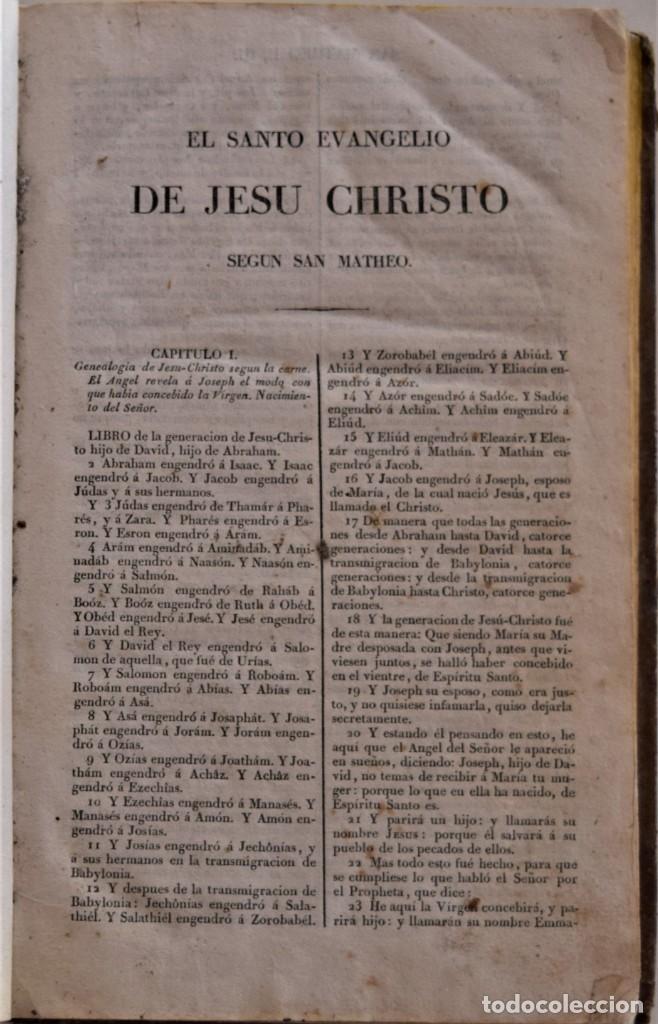 Libros antiguos: EL NUEVO TESTAMENTO TRADUCIDO AL ESPAÑOL DE LA VULGATA LATINA - PHELIPE SCIO DE S. MIGUEL - AÑO 1837 - Foto 5 - 184873977