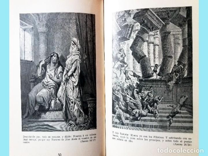 Libros antiguos: LA BIBLIA ILUSTRADA Hebrea CON 125 CUADROS BIBLICOS POR G. DORE. Edit. 1953 por SINAI EN ESPAÑOL. - Foto 4 - 185741328