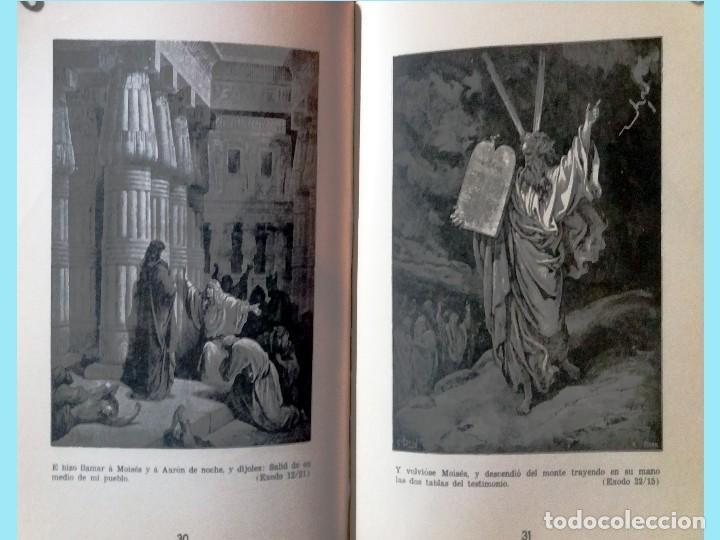 Libros antiguos: LA BIBLIA ILUSTRADA Hebrea CON 125 CUADROS BIBLICOS POR G. DORE. Edit. 1953 por SINAI EN ESPAÑOL. - Foto 5 - 185741328