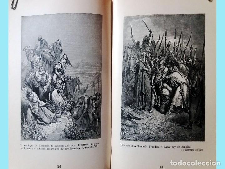 Libros antiguos: LA BIBLIA ILUSTRADA Hebrea CON 125 CUADROS BIBLICOS POR G. DORE. Edit. 1953 por SINAI EN ESPAÑOL. - Foto 6 - 185741328
