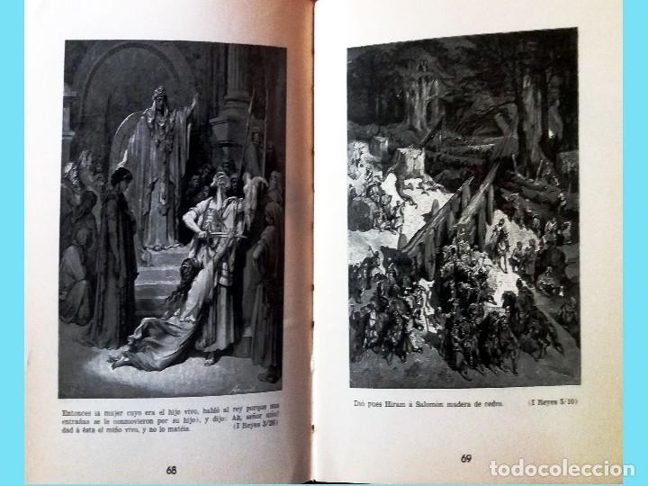 Libros antiguos: LA BIBLIA ILUSTRADA Hebrea CON 125 CUADROS BIBLICOS POR G. DORE. Edit. 1953 por SINAI EN ESPAÑOL. - Foto 7 - 185741328