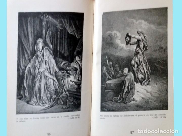 Libros antiguos: LA BIBLIA ILUSTRADA Hebrea CON 125 CUADROS BIBLICOS POR G. DORE. Edit. 1953 por SINAI EN ESPAÑOL. - Foto 8 - 185741328