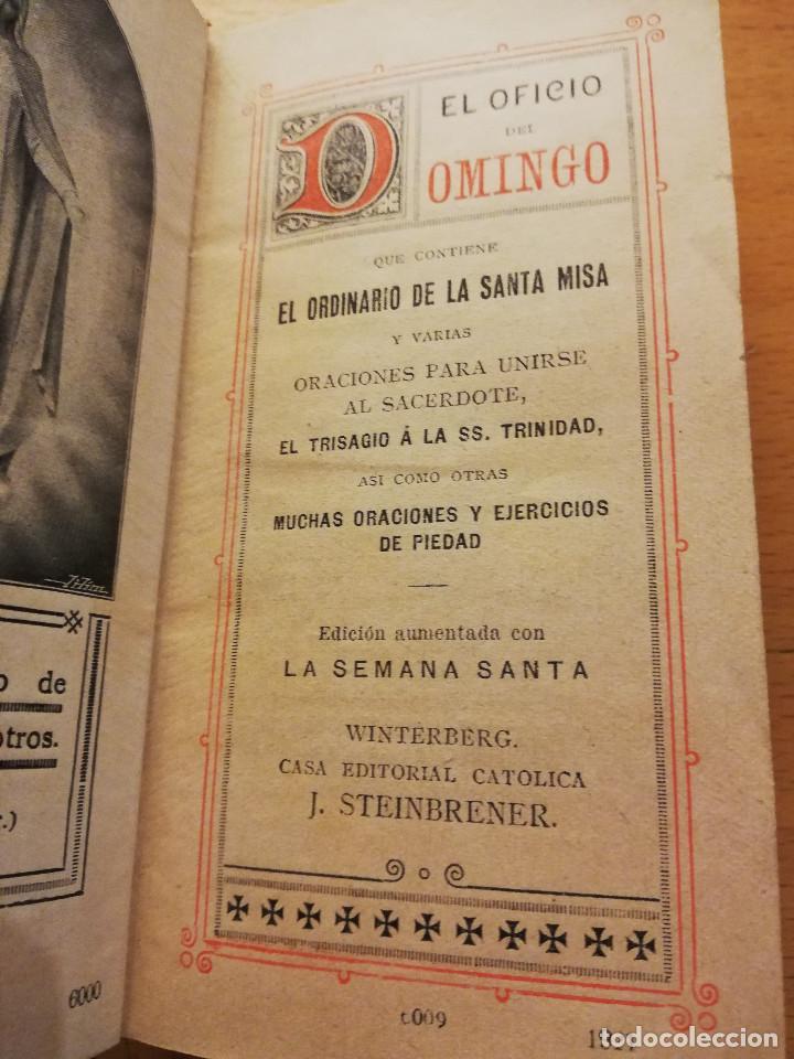 Libros antiguos: EL OFICIO DEL DOMINGO QUE CONTIENE EL ORDINARIO DE LA SANTA MISA Y VARIAS ORACIONES - Foto 2 - 186062261