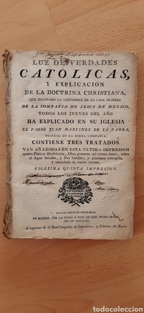 Libros antiguos: Libro religioso siglo XVIII - Foto 2 - 186286906