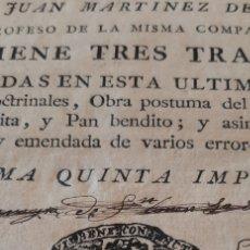 Libros antiguos: LIBRO RELIGIOSO SIGLO XVIII. Lote 186286906