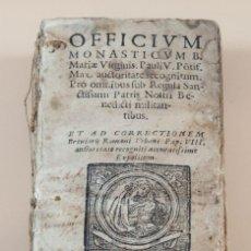 Libros antiguos: OFFICIUM MONASTICUM B. ANNO DOMINI 1660.. Lote 186388370