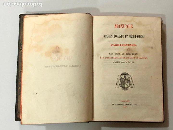 MANUALE RITUALIS ECLESIAE ET ARCHIDICECESIS TARRACONENSIS (1853) (Libros Antiguos, Raros y Curiosos - Religión)