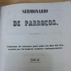 Livres anciens: 28940 - SERMONARIO DE PARROCOS - TOMO 1 - SEGUNDA EDICION - AÑO 1556. Lote 188451840