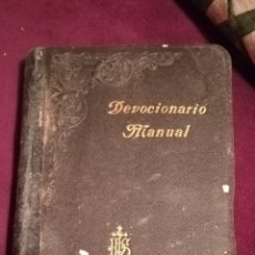 Libros antiguos: DEVOCIONARIO MANUAL. 1903.. Lote 188599536