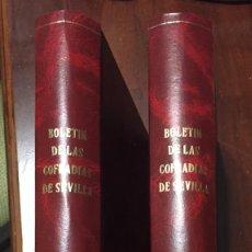 Libros antiguos: SEMANA SANTA DE SEVILLA BOLETÍN S. STA DE SEVILLA AÑOS 2001 Y 2002 DOS TOMOS ENCUADERNADOS EN PIEL. Lote 188810700