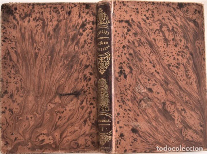 Libros antiguos: LOTE 3 LIBROS RELIGIOSOS, AÑO CRISTIANO CROISSET Y DOS DISCIPLINA ECLESIÁSTICA DE AGUIRRE - Foto 2 - 189085538