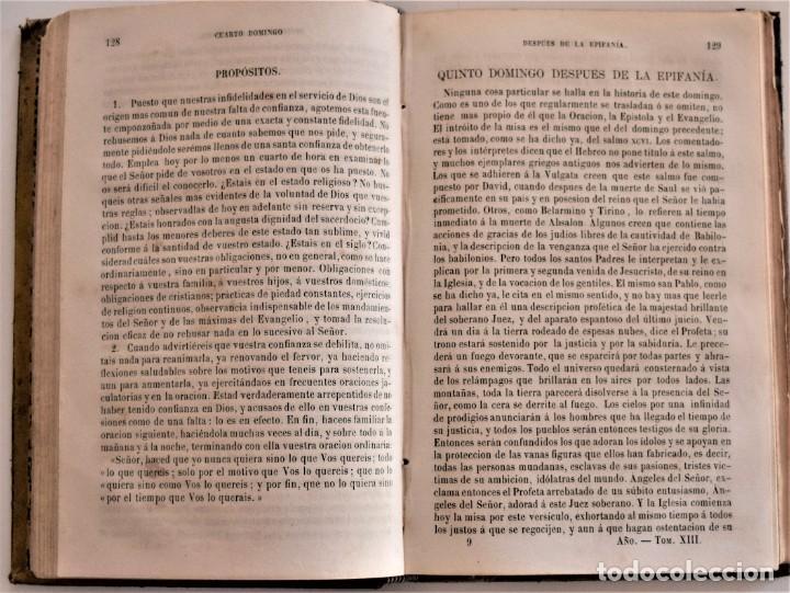 Libros antiguos: LOTE 3 LIBROS RELIGIOSOS, AÑO CRISTIANO CROISSET Y DOS DISCIPLINA ECLESIÁSTICA DE AGUIRRE - Foto 4 - 189085538