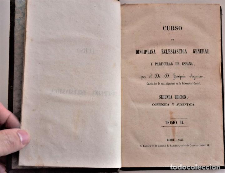 Libros antiguos: LOTE 3 LIBROS RELIGIOSOS, AÑO CRISTIANO CROISSET Y DOS DISCIPLINA ECLESIÁSTICA DE AGUIRRE - Foto 7 - 189085538