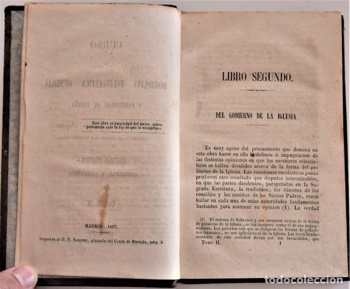 Libros antiguos: LOTE 3 LIBROS RELIGIOSOS, AÑO CRISTIANO CROISSET Y DOS DISCIPLINA ECLESIÁSTICA DE AGUIRRE - Foto 8 - 189085538