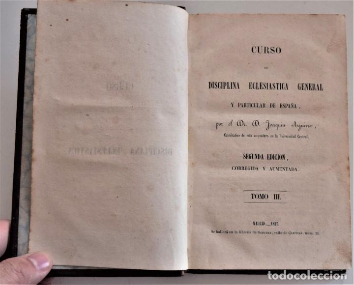 Libros antiguos: LOTE 3 LIBROS RELIGIOSOS, AÑO CRISTIANO CROISSET Y DOS DISCIPLINA ECLESIÁSTICA DE AGUIRRE - Foto 12 - 189085538