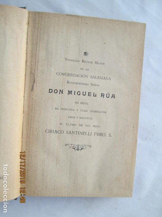 Libros antiguos: MANUAL DE PRIMERA COMUNIÓN - D. CIRIACO SANTINELLI SALESIANO - LIB. SALESIANA 1908. - Foto 3 - 189565436