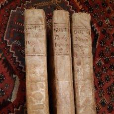Libros antiguos: TEOLOGÍA SCHOLASTICO DOGMÁTICA LUDOVICI GOTTI 3 TOMOS AÑO 1786. Lote 189708843