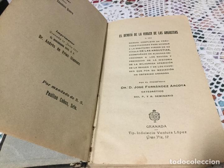 EL DEVOTO DE LA VIRGEN DE LAS ANGUSTIAS POR JOSÉ FERNÁNDEZ ARCOYA (Libros Antiguos, Raros y Curiosos - Religión)