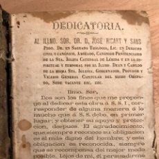 Libros antiguos: LIBRO RELIGIOSO SIGLO XIX. MISAL. RELIGIÓN.. Lote 190771595