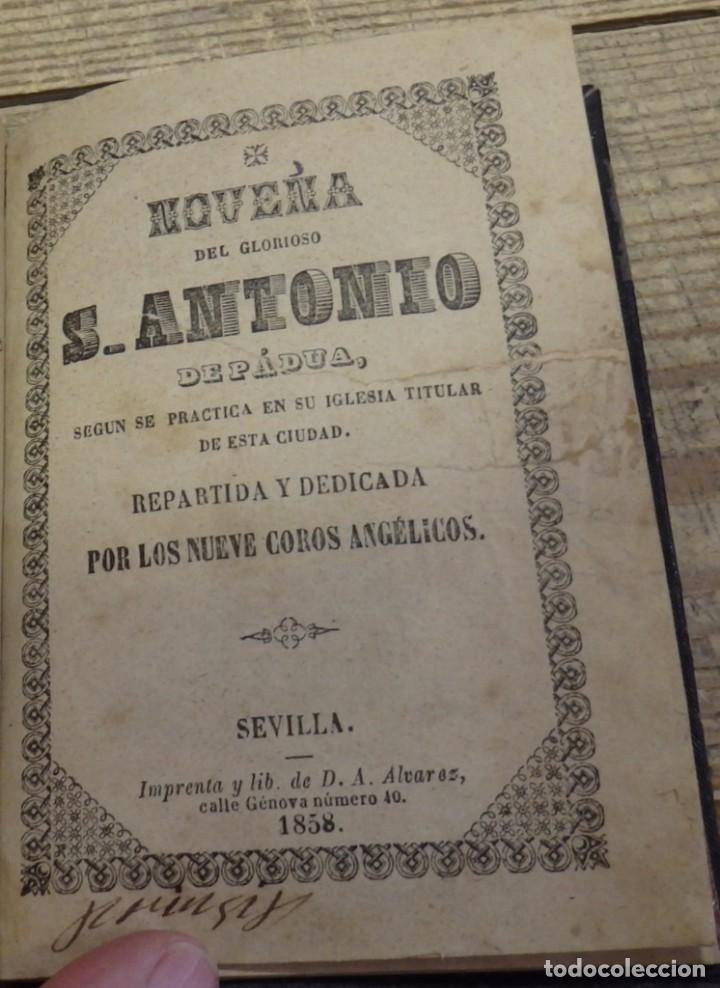 SEVILLA, 1858, NOVENA A SAN ANTONIO DE PADUA, 32 PAGINAS (Libros Antiguos, Raros y Curiosos - Religión)