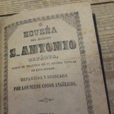 Libros antiguos: SEVILLA, 1858, NOVENA A SAN ANTONIO DE PADUA, 32 PAGINAS. Lote 191059275