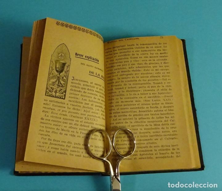 Libros antiguos: COMUNIÓN Y SANTA MISA O MANUAL DEL CRISTIANO. P. FRANCISCO DE P. GARZÓN - Foto 4 - 56393543