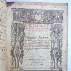 Libros antiguos: POST INCUNABLE 1547 SANTO TOMAS DE AQUINO * FOLIO 400 PAG BELLAS COMPOSICIONES TIPOGRAFICAS * NOTAS. Lote 191452238