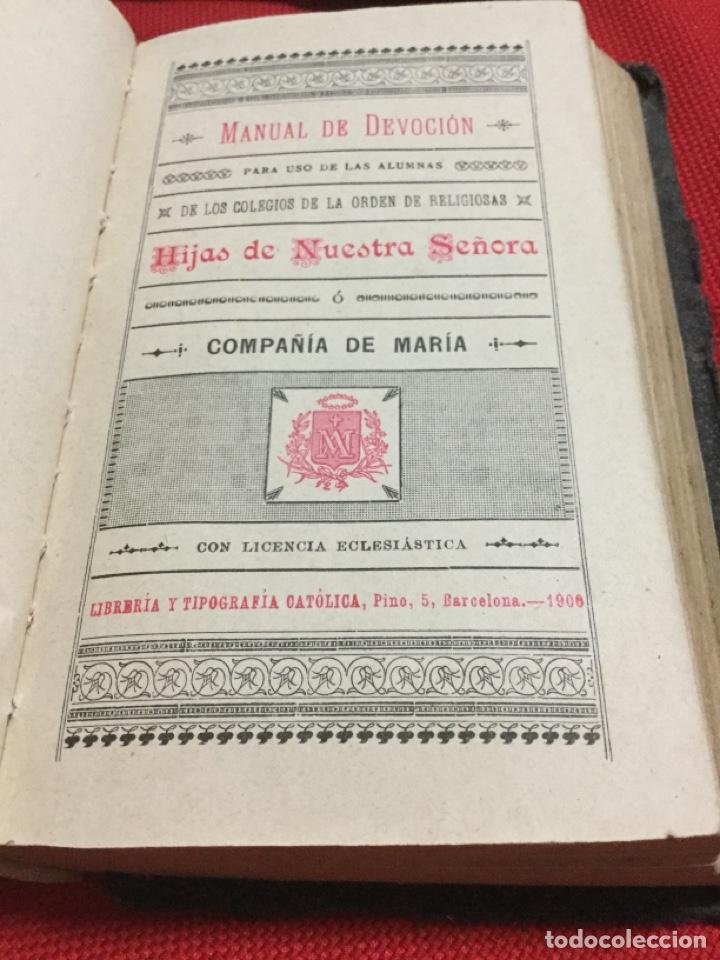 MANUAL DE DEVOCIÓN -1900 (Libros Antiguos, Raros y Curiosos - Religión)