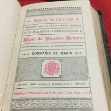 Libros antiguos: MANUAL DE DEVOCIÓN -1900. Lote 191487833