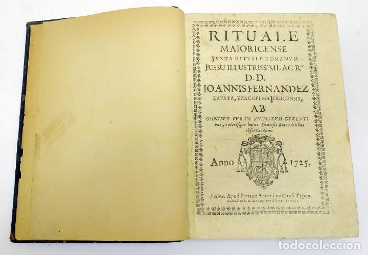 Libros antiguos: 1725 - Fernández Zapata - MALDICIONES en Catalán - Rituale majoricense juxta Rituale Romanum - Foto 2 - 191866878