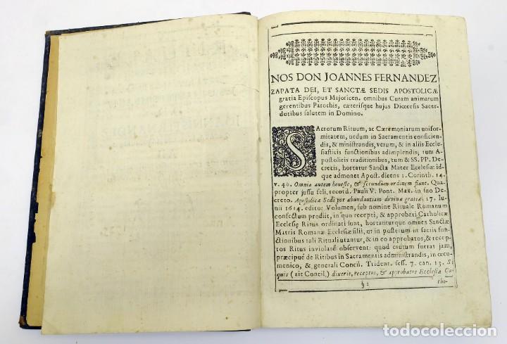 Libros antiguos: 1725 - Fernández Zapata - MALDICIONES en Catalán - Rituale majoricense juxta Rituale Romanum - Foto 3 - 191866878
