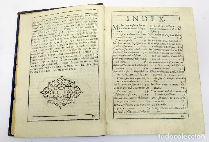 Libros antiguos: 1725 - Fernández Zapata - MALDICIONES en Catalán - Rituale majoricense juxta Rituale Romanum - Foto 4 - 191866878