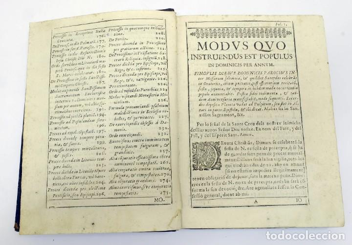 Libros antiguos: 1725 - Fernández Zapata - MALDICIONES en Catalán - Rituale majoricense juxta Rituale Romanum - Foto 5 - 191866878