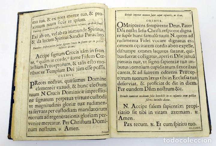 Libros antiguos: 1725 - Fernández Zapata - MALDICIONES en Catalán - Rituale majoricense juxta Rituale Romanum - Foto 7 - 191866878