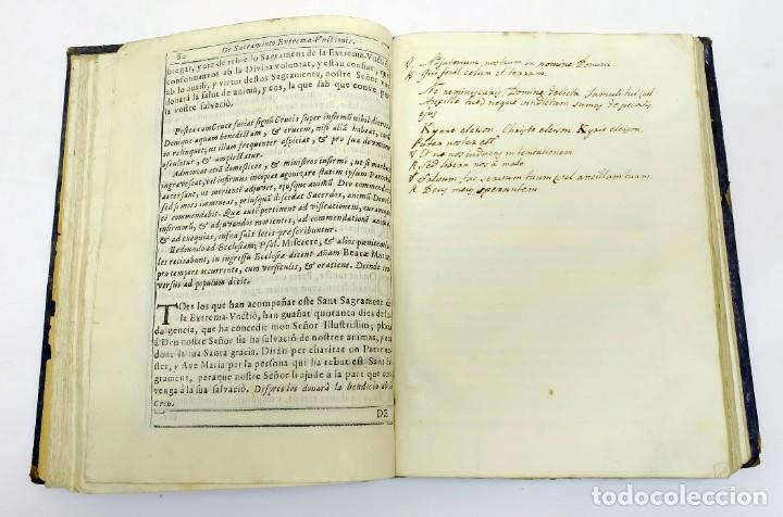 Libros antiguos: 1725 - Fernández Zapata - MALDICIONES en Catalán - Rituale majoricense juxta Rituale Romanum - Foto 8 - 191866878