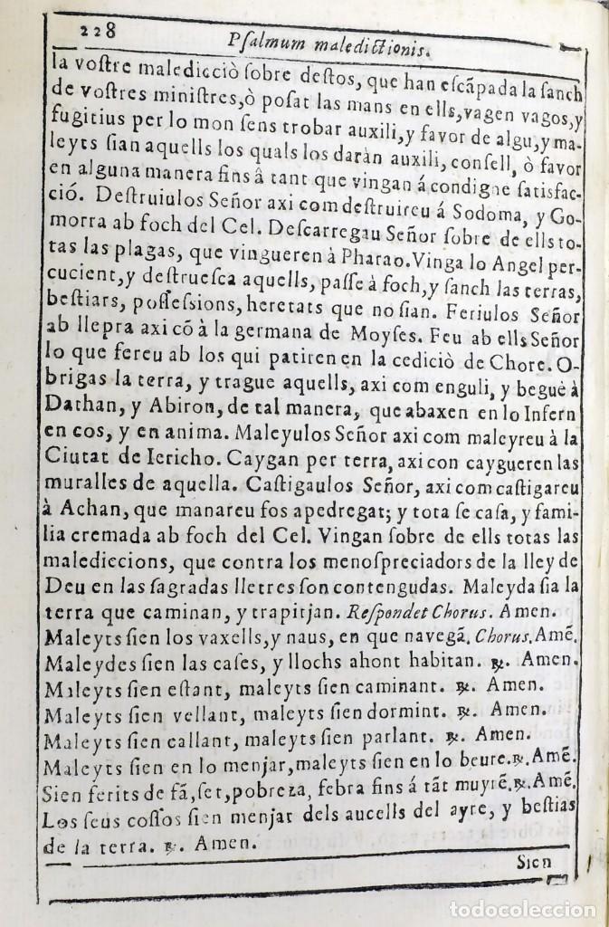 Libros antiguos: 1725 - Fernández Zapata - MALDICIONES en Catalán - Rituale majoricense juxta Rituale Romanum - Foto 11 - 191866878