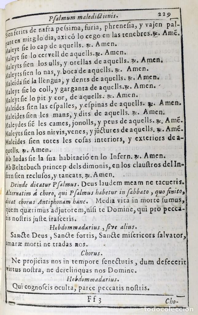 Libros antiguos: 1725 - Fernández Zapata - MALDICIONES en Catalán - Rituale majoricense juxta Rituale Romanum - Foto 12 - 191866878