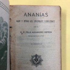Libros antiguos: ANANIAS, GUIA Y AMIGO DEL SACERDOTE EJERCITANTE - F.A. CEPEDA - MADRID 1916. Lote 192627915
