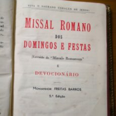 Libros antiguos: 1942 - MISSAL ROMANO DOS DOMINGOS E FESTAS, MONSEHOR FREITAS BARROS. Lote 192668495