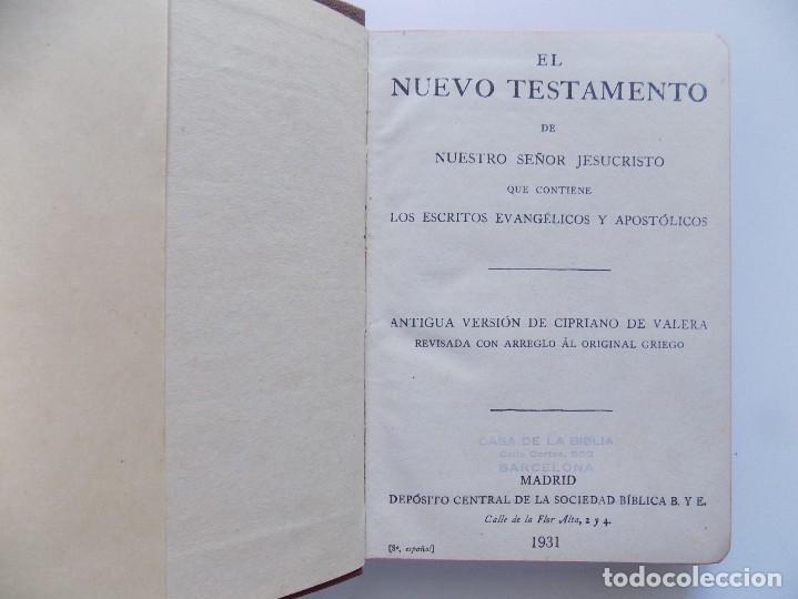 LIBRERIA GHOTICA. ANTIGUA VERSIÓN DE CIPRIANO DE VALERA DEL NUEVO TESTAMENTO.1931. PAPEL BIBLIA. (Libros Antiguos, Raros y Curiosos - Religión)