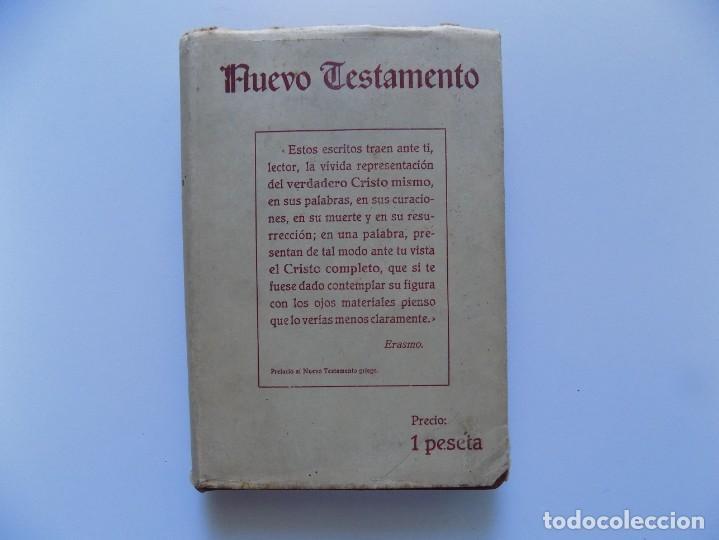 Libros antiguos: LIBRERIA GHOTICA. ANTIGUA VERSIÓN DE CIPRIANO DE VALERA DEL NUEVO TESTAMENTO.1931. PAPEL BIBLIA. - Foto 2 - 192747091