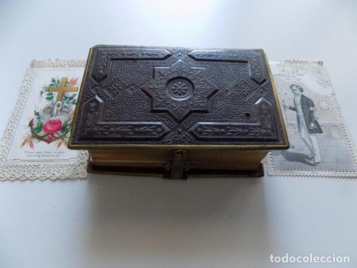 Libros antiguos: LIBRERIA GHOTICA. LUJOSO BREVIARIUM ROMANUM DE LIMOGES 1870.CON ESTAMPAS TROQUELADAS. - Foto 4 - 192749372