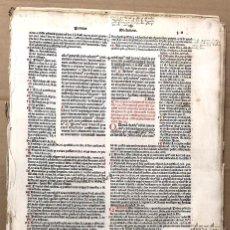 Libros antiguos: LOTE DE 46 PLIEGOS INCUNABLE VENECIANO BAPTISTAM DE TORTIS. C. 1500. INCOMPLETO. Lote 192978307