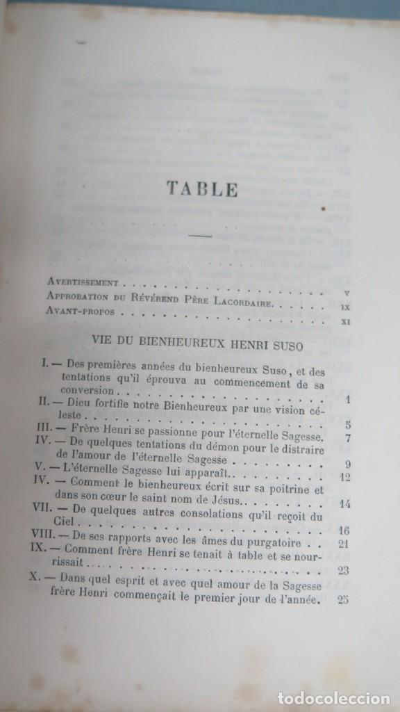 Libros antiguos: 1878.- OEUVRES DE B. HENRI SUSO - Foto 2 - 194229510