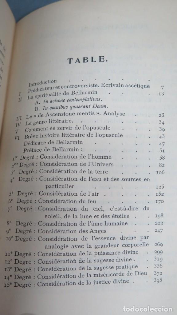 Libros antiguos: 1924.- LA MONTEE DE LAME VERS DEIU. ROBERT BELLARMIN, S.J - Foto 2 - 194229843